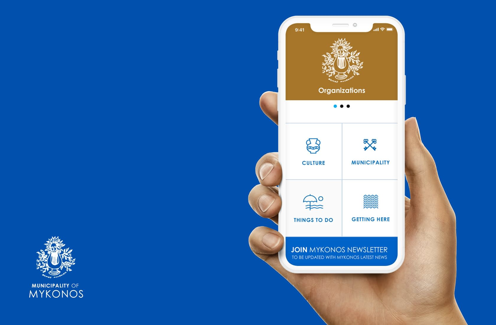 Municipality of Mykonos Mobile Website UI Design