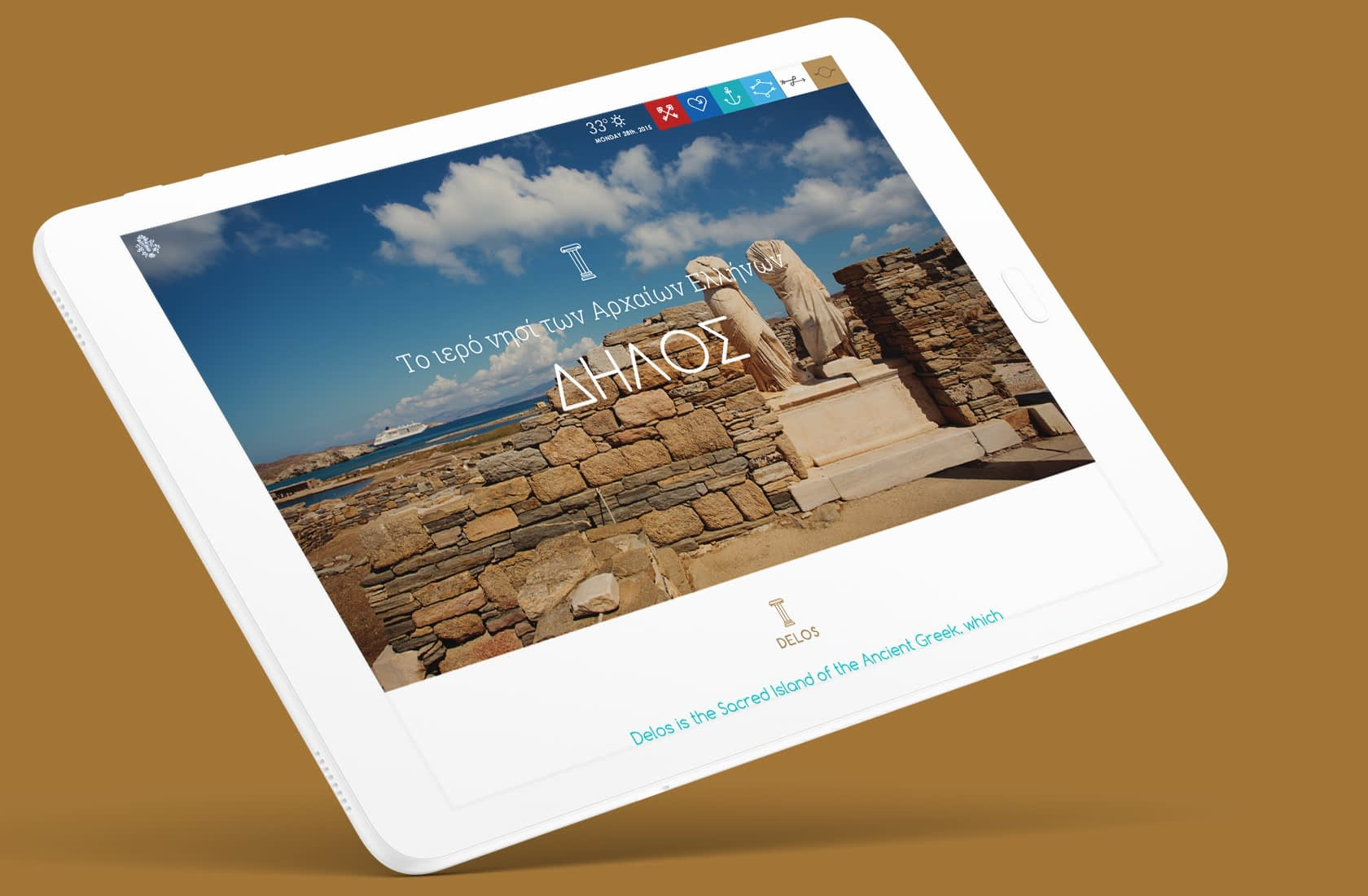 Municipality of Mykonos Website UI Design